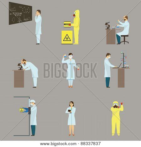 Set of Scientific Characters