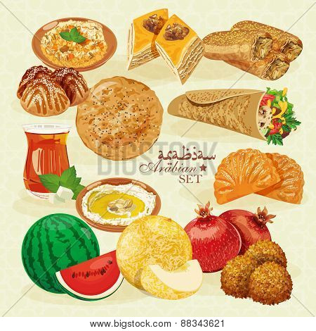 Arabic Halal Food.