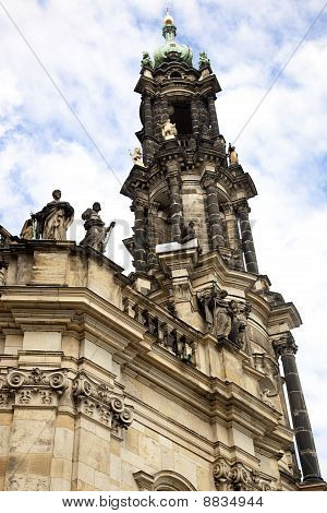 The Spire of the Catholic Court Church In Dresden