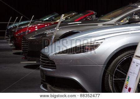Row Of Aston Martins