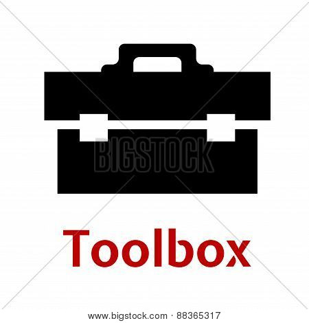 Toolbox black icon isolated on white background