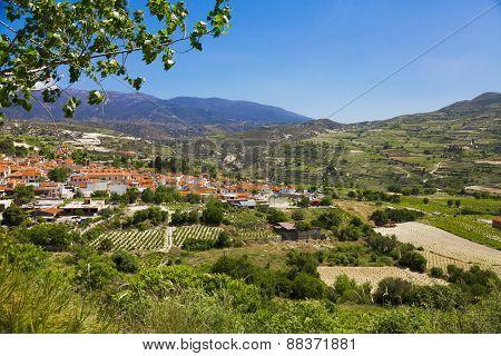 Panoramic view of mountain village
