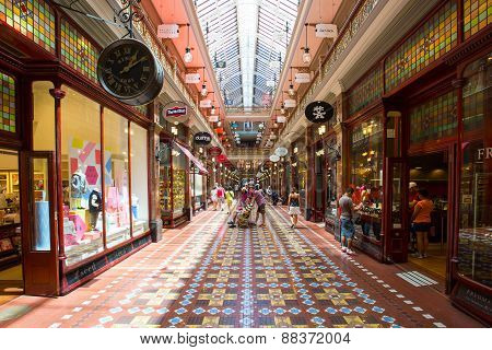 Sydney, Australia - Feb 8 - The Strand Arcade in the middle of a busy day in Sydney CBD on February 8th, 2015. poster