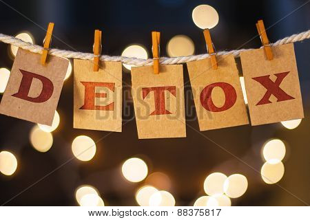 Detox Concept Clipped Cards And Lights