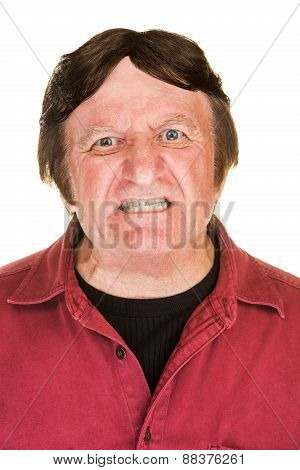 Outraged Man In Red