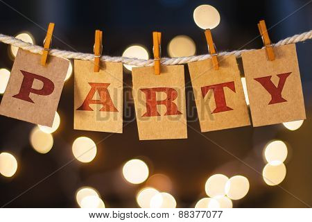Party Concept Clipped Cards And Lights