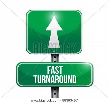 Fast Turnaround Road Sign Illustration