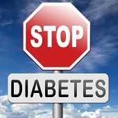 stop diabetes health prevention for obesity sugar free diet poster