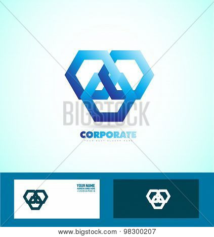 Corporate Business Looped Logo Sign Icon