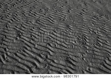 Sand Pattern At The Beach