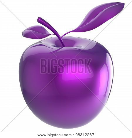 Apple food purple blue research experiment nutrition fruit antioxidant fresh ripe exotic danger poison anomaly unusual agriculture organic poster