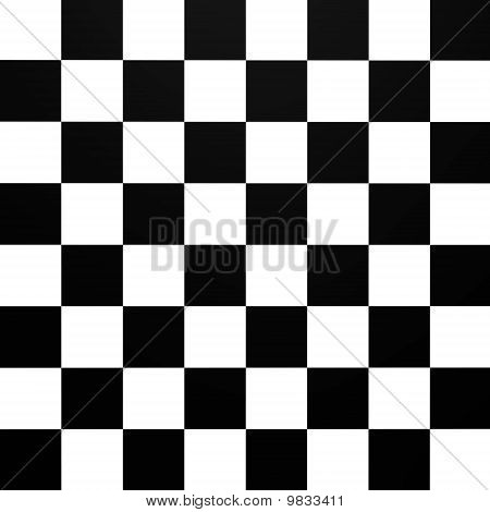 A chessboard pattern from top - 3d image