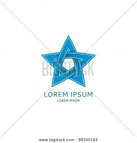 Logo Of Cinema's Star Vector Illustration