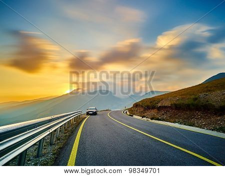 Mountain Road Landscape