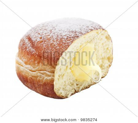 Tasty doughnut delicious donut on white background poster