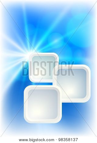 Blue Background Presentation Template Flyer Star Effect Blur