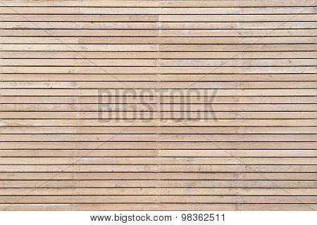 Bright wooden facade