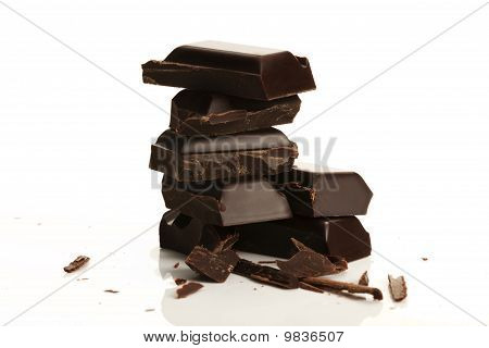 stack of plain chocolate
