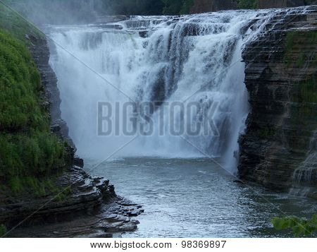 Waterfall at Letchworth