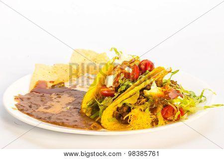 Crunchy Taco Mexican Platter