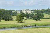 view of Floors Castle and parkland with river Tweed poster