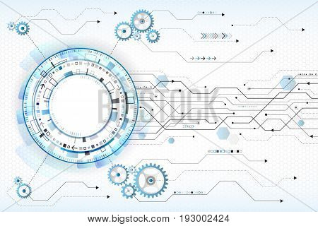Abstract digital technology concept. High tech computer innovation on the grey background. Vector illustration eps10