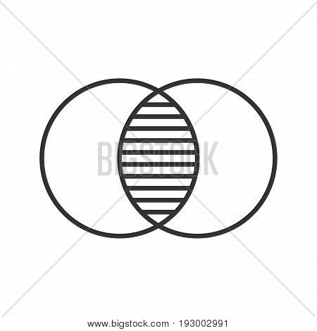 Merging linear icon. Thin line illustration. Integration abstract metaphor contour symbol. Vector isolated outline drawing