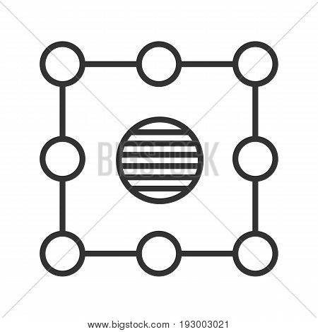 Isolation symbol linear icon. Thin line illustration. Insulation abstract metaphor contour symbol. Vector isolated outline drawing