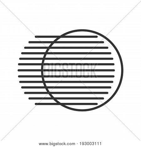 Movement symbol linear icon. Thin line illustration. Dynamic motion concept contour symbol. Vector isolated outline drawing