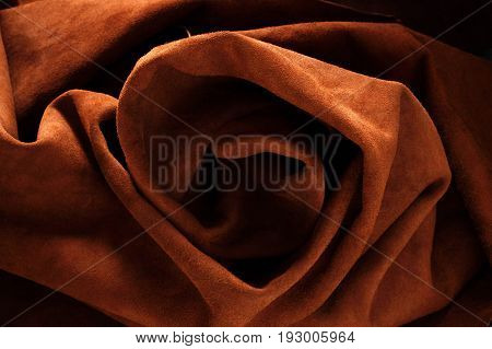 leather of rolls with a surface texture.