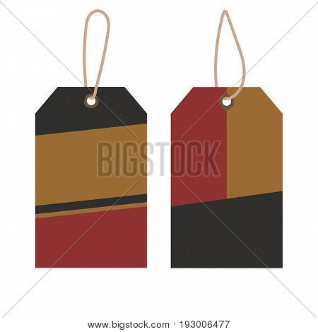 Viscose recycled label tags set. Vector paper shopping blanks