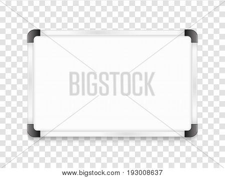 Blank whiteboard with shadow, vector eps10 illustration
