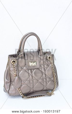 Women's handbag on a white background Women's fashion handbags have a tendency to indicate the taste of fashion style.