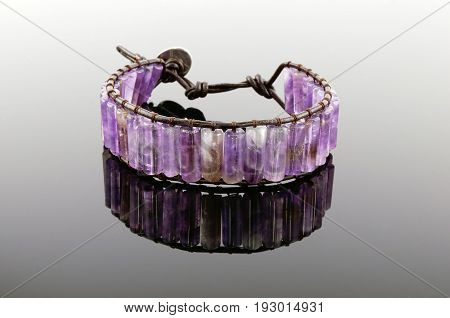 Bracelet From Decorative A Stone With Reflexion Against