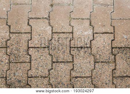 Textured Floor Of Stone Pavers