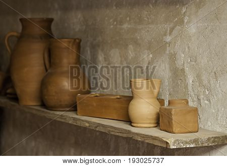 Craft Pottery Vessels In A Pottery