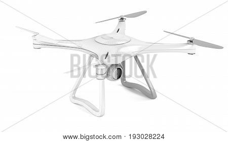 3D model of unmanned aerial vehicle with visible wire-frame