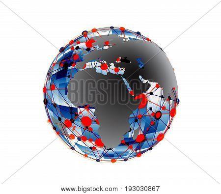 Global Communication Icon. Wifi World Symbol. Earth symbol of worldwide internet. Wifi icon app.Wifi World Icon.