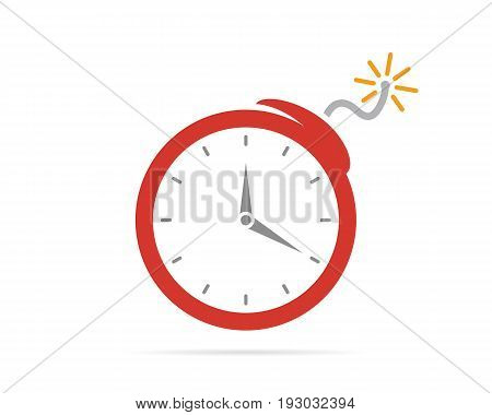 logo design combination of a clock and bomb. Clock and bomb symbol or icon