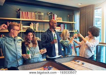 Group Of Friends Having Fun At Bar