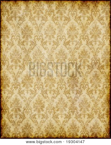 old worn damask parchment paper background texture image