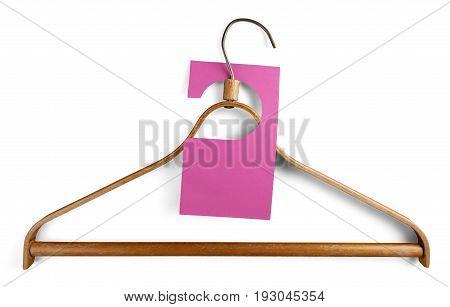 Tag coat blank price hang hanger coat hanger
