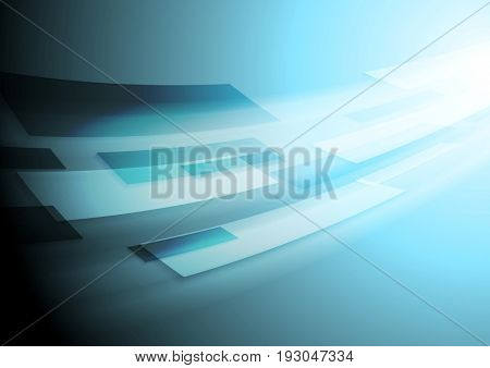 Bright blue hi-tech motion background