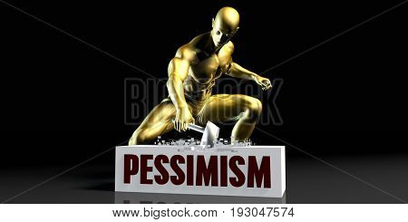 Eliminating Stopping or Reducing Pessimism as a Concept 3D Illustration Render
