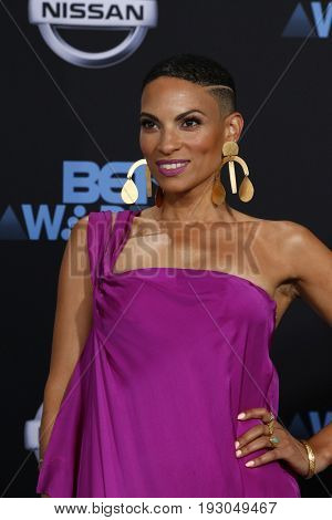 LOS ANGELES - JUN 25:  Goapele at the BET Awards 2017 at the Microsoft Theater on June 25, 2017 in Los Angeles, CA