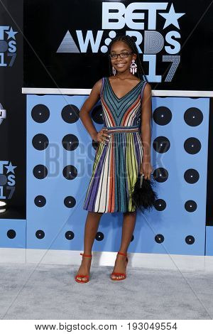 LOS ANGELES - JUN 25:  Marsai Martin at the BET Awards 2017 at the Microsoft Theater on June 25, 2017 in Los Angeles, CA