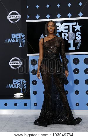 LOS ANGELES - JUN 25:  Nafessa Williams at the BET Awards 2017 at the Microsoft Theater on June 25, 2017 in Los Angeles, CA