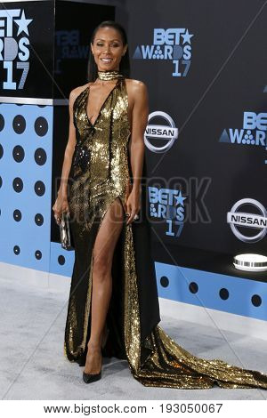 LOS ANGELES - JUN 25:  Jada Pinkett Smith at the BET Awards 2017 at the Microsoft Theater on June 25, 2017 in Los Angeles, CA