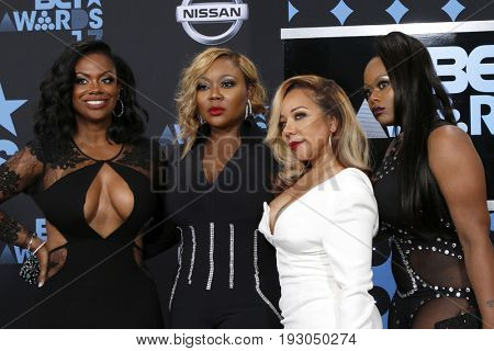 LOS ANGELES - JUN 25:  Kandi Burruss, LaTocha Scott, Tameka Cottle, Tamika Scott, Xscape at the BET Awards 2017 at the Microsoft Theater on June 25, 2017 in Los Angeles, CA