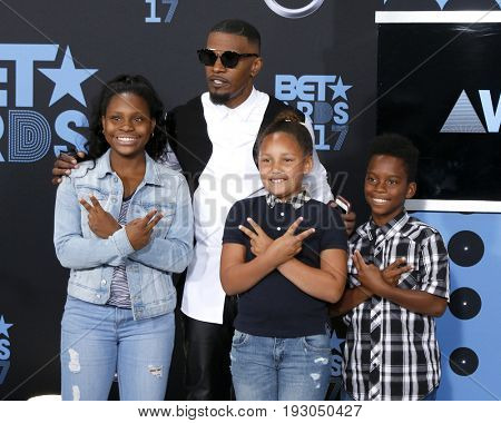 LOS ANGELES - JUN 25:  Jamie Foxx_Guests at the BET Awards 2017 at the Microsoft Theater on June 25, 2017 in Los Angeles, CA